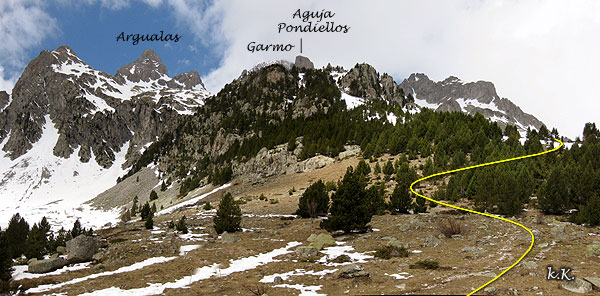 Route du Garm noir par le grand nu d'Argualas
